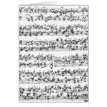 Music Score of Johann Sebastian Bach Cards
