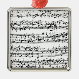 Music Score of Johann Sebastian Bach Metal Ornament
