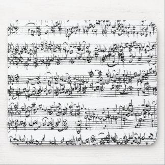 Music Score of Johann Sebastian Bach Mouse Pad