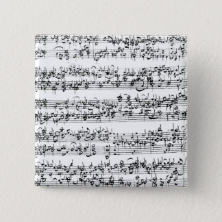 Music Score of Johann Sebastian Bach Pinback Button