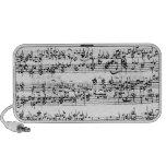 Music Score of Johann Sebastian Bach Travelling Speakers