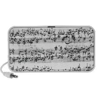 Music Score of Johann Sebastian Bach Portable Speaker