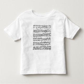 Music Score of Johann Sebastian Bach Toddler T-shirt