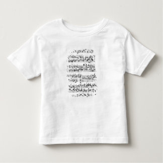 Music Score of Johann Sebastian Bach Toddler T-shirt