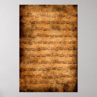 Music score - poster