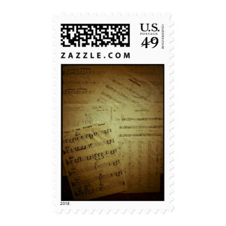 Music Score Sheets Stamps