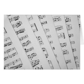 Music scores greeting cards