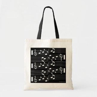 Music Scores Note Sheet Bag Black 1