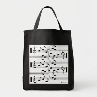 Music Scores Note Sheet Bag White 1