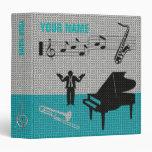 Music Scores Note Sheet Binder Blue