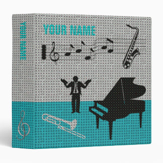 Music Scores Note Sheet Binder Blue