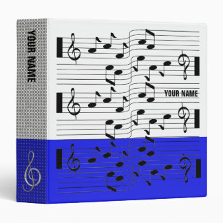 Music Scores Note Sheet Binder Cobalt Blue