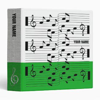 Music Scores Note Sheet Binder Dark Green