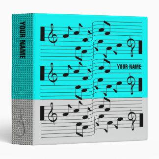 Music Scores Note Sheet Binder Grey Blue