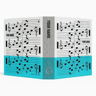 Music Scores Note Sheet Binder Light Blue