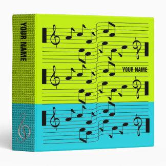 Music Scores Note Sheet Binder Light Blue Green