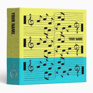 Music Scores Note Sheet Binder Light Blue Yellow