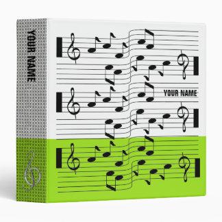 Music Scores Note Sheet Binder Lime Green
