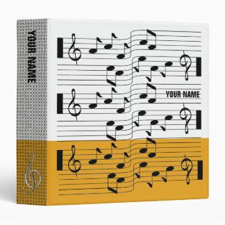Music Scores Note Sheet Binder Orange