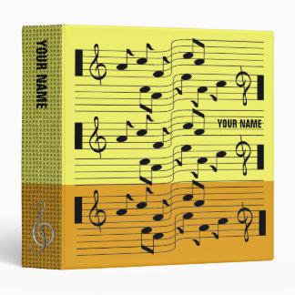 Music Scores Note Sheet Binder Orange Yellow