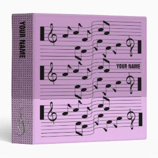 Music Scores Note Sheet Binder Pink Purple