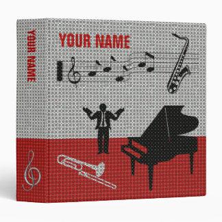 Music Scores Note Sheet Binder Red