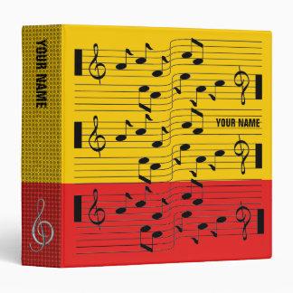 Music Scores Note Sheet Binder Red Orange