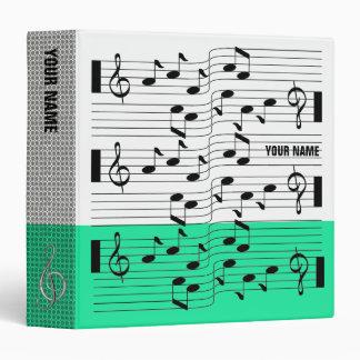 Music Scores Note Sheet Binder Turquoise Blue