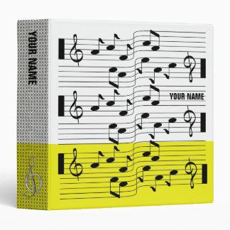 Music Scores Note Sheet Binder Yellow