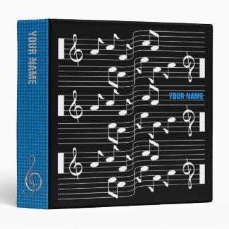 Music Scores Note Sheet Black Binder Blue Spine