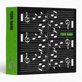 Music Scores Note Sheet Black Binder Green Spine