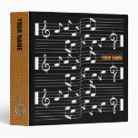 Music Scores Note Sheet Black Binder Orange Spine