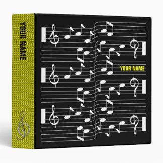 Music Scores Note Sheet Black Binder Yellow Spine