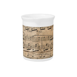 Music Sheet Beverage Pitchers