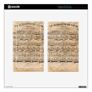 Music Sheet Decals For Kindle Fire