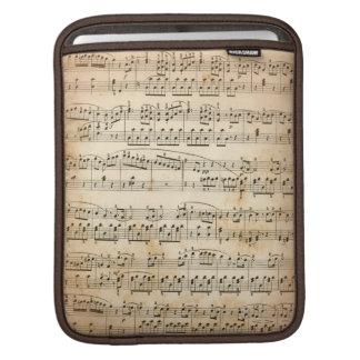 Music sheet iPad sleeves