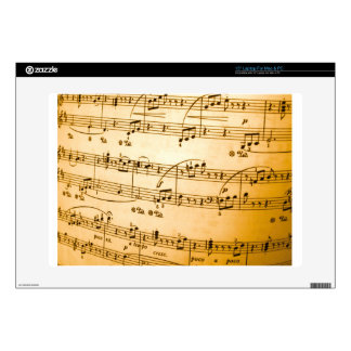 Music Sheet Laptop Decal
