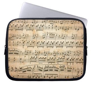 Music sheet laptop computer sleeve