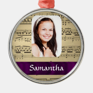 Music sheet photo template metal ornament