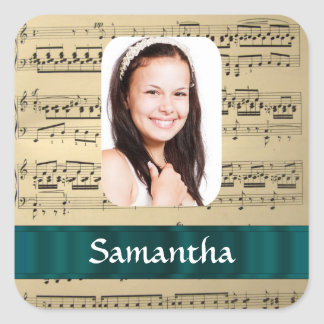 Music sheet photo template sticker