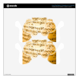 Music Sheet PS3 Controller Decal