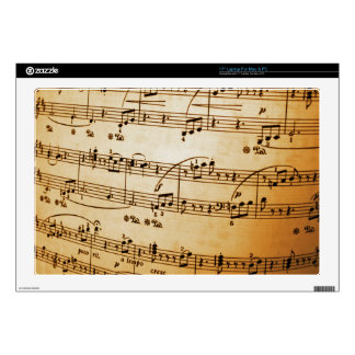 "Music Sheet Skin For 17"" Laptop"