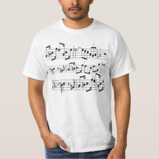 music sheet T-Shirt at Zazzle