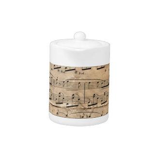 Music Sheet Teapot