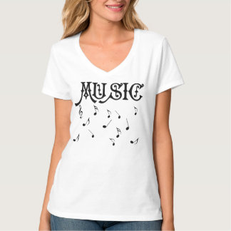 Music shirt with musical notes