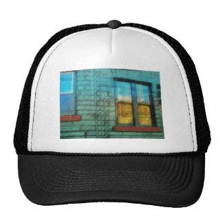 Music Shop Back Window 3 Hats