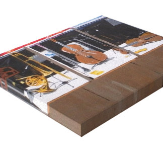 Music Shop Stretched Canvas Print