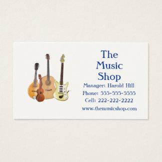 Music Shop/Guitar Teacher Business Card