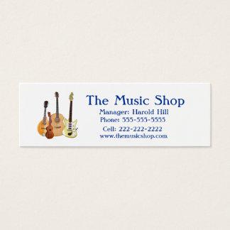 Music Shop/Guitar Teacher Mini Business Card