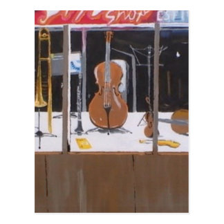 Music Shop Postcard